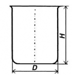 Стакан кварцевый низкий НБН-400 мл