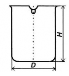 Стакан кварцевый низкий НН-50 мл