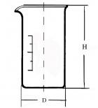 стакан высокий В-1-400 с делением