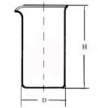 стакан высокий В-1-2000 без делений